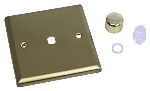 Varilight WY1.BB Urban Brushed Brass 1 Gang Dimmer Plate Only + Knobs
